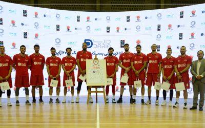 مراسم بدرقه تیم ملی بسکتبال ایران برای اعزام به المپیک توکیو